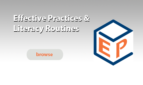 Effective Practices and Literacy Routines
